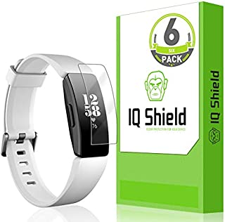 [6-Pack] IQ Shield LiQuidSkin Full Coverage Screen Protector for Fitbit Inspire HR HD Clear Anti-Bubble Film (Compatible with Fitbit Inspire)