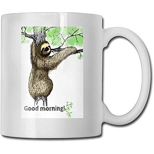 Lustiges Trägheit-gutenmorgen-Kaffeetasse-Neuheits-keramisches weißes Tee-Schalen-Kaffee- Tee-Schalen-Geschenk