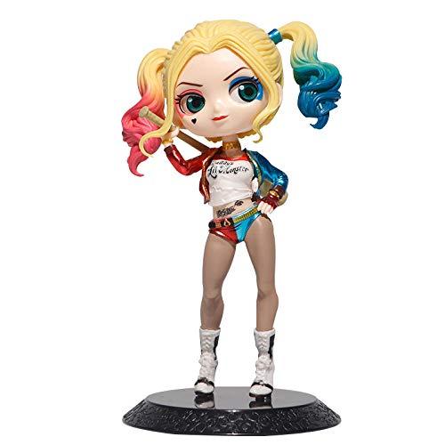 Mautesny Q Posket Petit DC Comics Suicide Squad Harley Quinn Mini Figura de PVC de colección modèle jouet