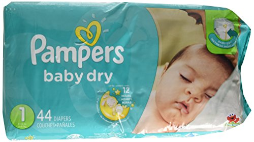 Pampers Baby Dry Diapers Size 1 Jumbo Pack 44 ea by Pampers