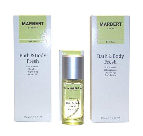 MARBERT GERMANY Bath & Body FRESH 3 tlg. Duft & Pflegeset: Eau Fraiche 50 ml + Erfrischendes Duschgel 200 ml + Erfrischende Körperlotion 200 ml « Lieferung erfolgt wie abgebildet »