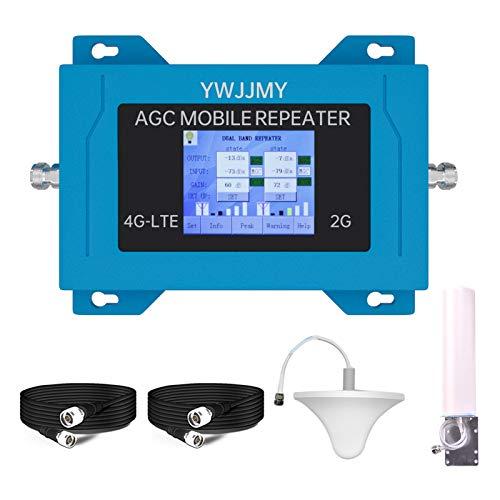 YWJJMY 4G Amplificador de señal de teléfono Celular Europeo General El último ACG Ajuste automático Error de instalación automática Error de instalación Función gsm+BANDS3 (2G+4G) Conjunto de Antena