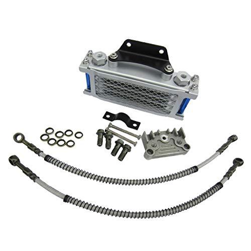 JIEIIFAFH Kit de Enfriador de Aceite del Motor de Aluminio Ajuste del radiador para 125cc 140cc Pro Trail Dirt Bike