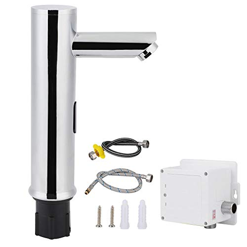 Grifo de Sensor, Grifo de Agua de latón G1/2in Grifo de Sensor automático sin Contacto frío Simple para baño sin Contacto para Manos(01)