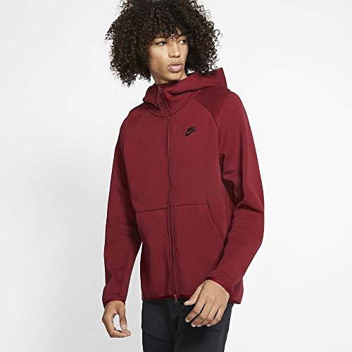 Nike Herren Sportswear Tech Fleece Hoodie Dunkelrot L