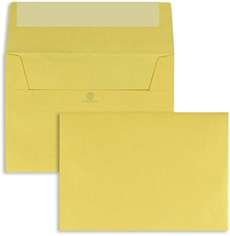 Farbige Briefhüllen   Premium   114 x 162 mm (DIN C6) Gelb (200 Stück) mit Abziehstreifen   Briefhüllen, KuGrüns, CouGrüns, Umschläge mit 2 Jahren Zufriedenheitsgarantie B01DULFEHO | Up-to-date Styling