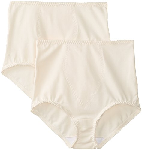 Bali Women's Smoothers Shapewear 2 Pack Cotton Brief with Light Control, Porcelain, XX-Large