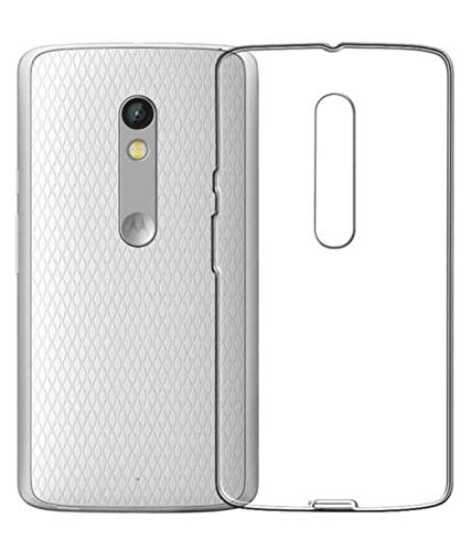 Gioia Bazaar Crystal Clear Transparent Ultra Slim See Through Protective Hard Back Shell Case Cover for Motorola Moto X Play(Transparent)