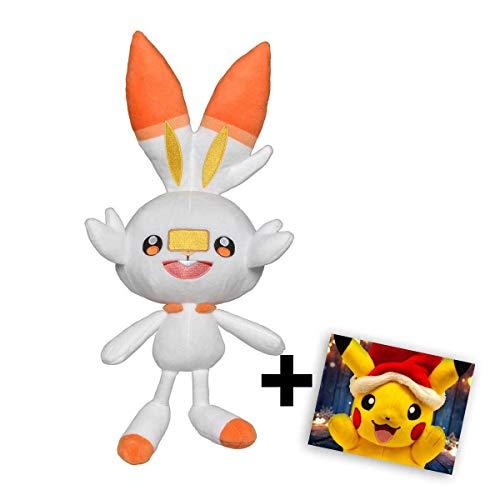 Lively Moments Pokémon Plüschtier Galar zu Nintendo Switch Schwert und Schild - Hopplo + exklusiver GRATIS Grußkarte