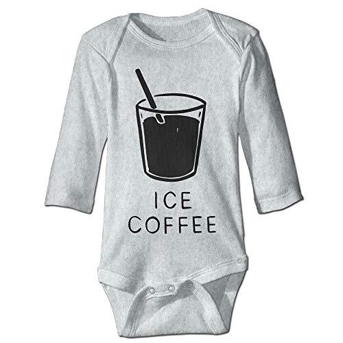 Body de manga larga para beb con diseo de oruga, unisex, para bebs, caf, hielo, para nios, beb, para nios, beb, de manga larga, traje de sol, color ceniza