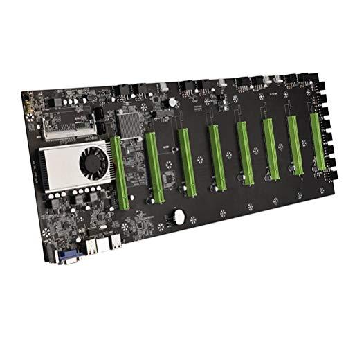 CeFoney Paquete de la placa base BTC-D37 Minería de la máquina madre de baja potencia CPU Grupo 8 ranuras para tarjetas de video minería placa madre Combo