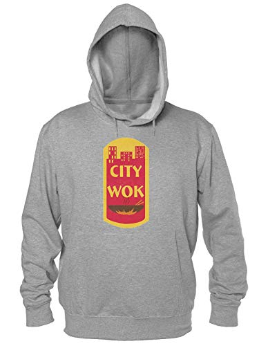 Finest Prints City Wok Historic CtPaTown Kapuzenpulli für Herren Large