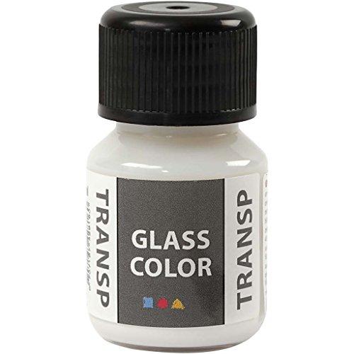 Creativ Company Glasfarbe Transparent, 35 ml, Weiß