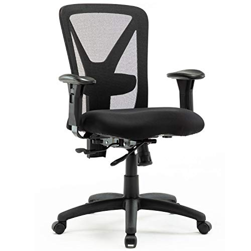 Big and Tall Office Chair-High Back Swivel Mesh Chair for Big Person, with Tilt Reclining Mechanism and Lock, Holds up 400 LBS, Black