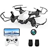 Mini Drone with 720P Camera for Kids and Adults, EACHINE E61HW White Wifi FPV Quadcopter with 720P HD Camera 2 Pcs battery Selfie Pocket Nano Drone for Beginner