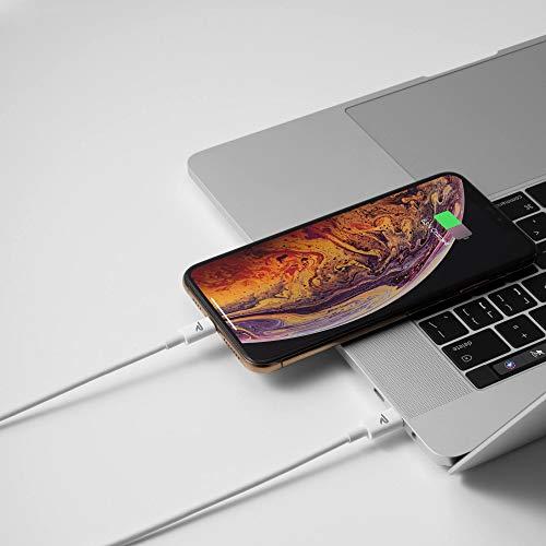 RAMPOW USB C auf Lightning Kabel, USB C Lightning Kabel[MFi-Zertifiziert und PD-Schnellaufladung], USB-C auf Lightning Kabel kompatibel mit iPhone X/XS/XR/11/12, iPad und mehr - 1M/ Weiß
