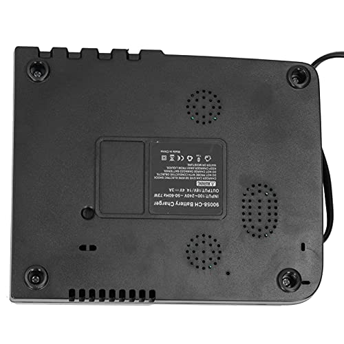 Yosoo Health Gear Cargador de batería 3A, Cargador de batería Dual para Makita Sin Efecto de Memoria Operación Segura para la Industria(Transparency)