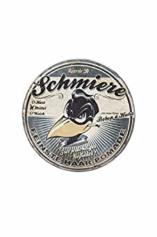 Hier einmal die Highlights unserer Pomade Mittlerer Halt - perfekte Kontrolle Stylische, bedruckte Metalldose Inhalt: 140 ml Made in Germany