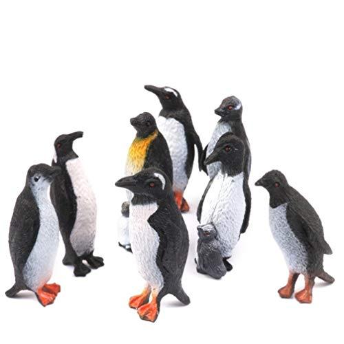 Toddmomy 8 Pcs en Plastique Pingouin Modèles Océan Animal Figurine Gâteau Toppers Animaux Éducatifs Animal Jouet De Noël Cadeau d'anniversaire pour Tout-Petit