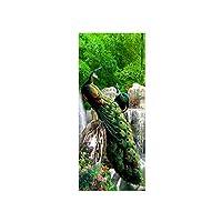 自己粘着性の3D強力なポストドアステッカー竹の森孔雀のドアステッカーウォールステッカー壁画