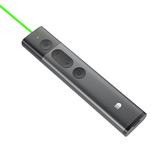 Doosl Presentation Clicker with Green Laser Pointer, 2.4GHz...