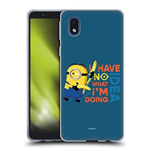 Head Case Designs Licenza Ufficiale Minions Rise of Gru(2021) Nessuna Idea Umorismo Cover in Morbido Gel Compatibile con Samsung Galaxy A01 Core (2020)
