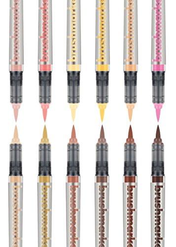 KARIN Rotuladores de colores Pro 12, juego de colores de piel, multicolor