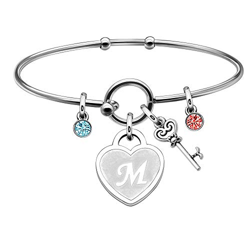 BHXRODE Initial Bangle Wrist Bracelet 26 Letters A to Z Heart Engraved...