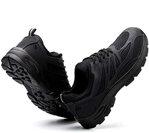 LBHH Zapatos de Trabajo,Botas de Seguridad Seguridad para Hombres con Punteras de Acero,Hombres Mujeres Zapatillas de Deporte KPU Zapatos de Seguridad Zapatos de construcción