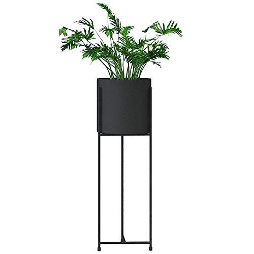 Support pour Plantes Support pour présentoirs Rangement pour échelles Support pour Pot de Fleurs Support en Fer Balcon Chambre avec Jardin Taille 21,5 x 57 cm / 18,5 x 75 cm (L x H) Noir