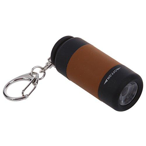 TANOU 2X USB aufladbarer -LED-Lampe Licht Taschenlampe Schluesselanhaenger Ring