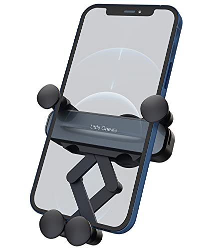 SOUNDANCE Cell Phone Holder for Car Air Vent, Auto Lock Gravity Car Phone Mount with Upgraded Hook Clip, Easy to Install, Hands Free Cellphone Cradle Universally Compatible with Smart Phone