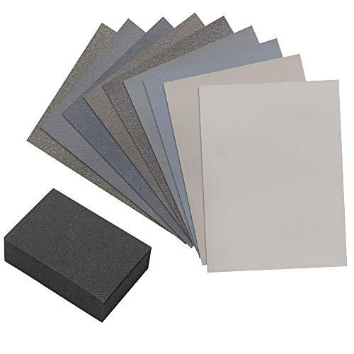 Micro-mesh Cushioned Abrasive Cloth Polishing Kit 6x3-inch 9 Sheets