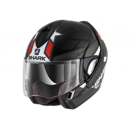 Shark Motorrad-Helm Evoline 3 StreLKA, Schwarz/Weiß/Rot, Größe XS