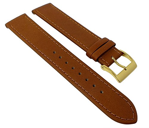 Junghans MAX BILL Ersatzband Uhrenarmband Leder braun 17mm 027/5703