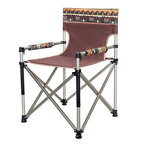 Qilo Acampar Silla con apoyabrazos Portable de la Pesca de Aluminio Plegable de Viaje for sillas de Senderismo Stool Ligero Hamaca Jardín Tumbona, Presidente de Actividades al Aire Libre en el Patio