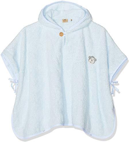 Bellybutton mother nature & me Unisex Baby Bade Poncho Bademantel, Blau (Baby Blue|Blue 3023), One Size (Herstellergröße: 00)