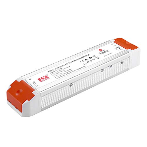 Dimmable LED driver DC12V 120W universal regulated switching power supply, dimmable power supply with dimmer Dimmable low voltage transformer Compatible with Lutron and Leviton for LED Strip Lights