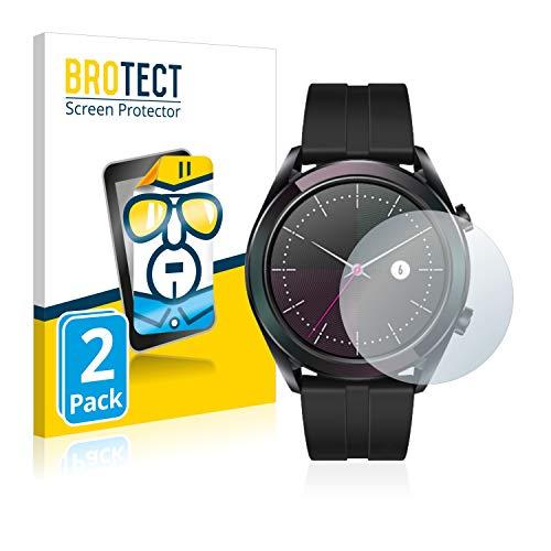 BROTECT Protector Pantalla Compatible con Huawei Watch GT Elegant (42 mm) Protector Transparente (2 Unidades) Anti-Huellas