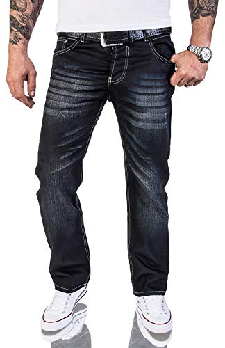 Rock Creek Herren Designer Jeans Wachsbeschichtung Coated Stonewash RC-2064 W32 L36