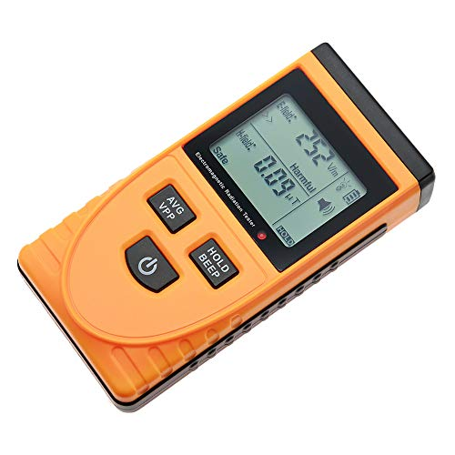 Electromagnetic Radiation Tester Digital Electromagnetic Radiation Detector Dosimeter Tester EMF Meter Counter