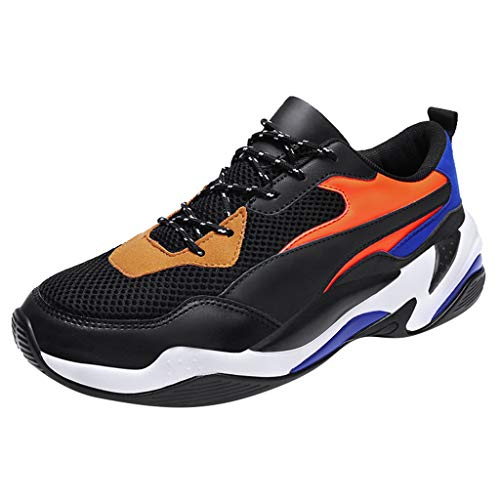 YWLINK Hombre Zapatos Calzados Casuales De Color Salvaje Encaje Zapatillas Bajas CóModas Y Transpirables TamañO Grande Al Aire Libre Antideslizante FúTbol MontañIsmo Playa Fiesta(Naranja,42EU)