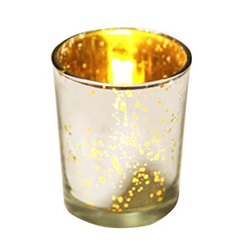 SNIIA Glas Teelichthalter Bulk, Mercury Votive Kerzenhalter für Hochzeit, Party, Urlaub und Home Decor