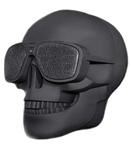 Skull Head Speaker Portable Bluetooth Speakers 8W Output Bass Stereo with DSP Compatible for Desktop PC/Laptop/Mobile Phone/MP3/MP4 Player for Halloween Unique Gift Party Traveling & Outdoor