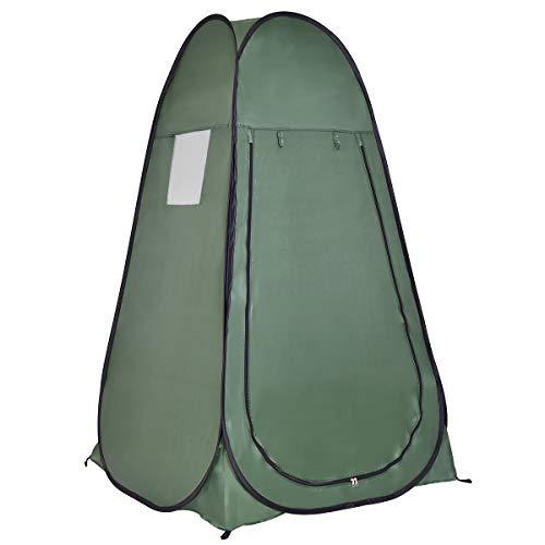 RELAX4LIFE Umkleidezelt mit Pop up System, Duschzelt Faltbar, Toilettenzelt mit Fenster, Beistellzelt Polyesterfasern, Lagerzelt, Campingzelt, Trekkingzelt, Strand Pop-up Zelt