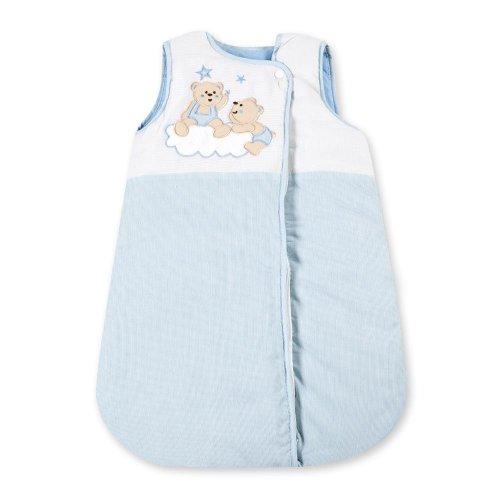 Baby Schlafsack Winterschlafsack/Sommerschlafsack für Jungen und Mädchen 70cm, Modelle:Joy Blau
