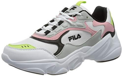 FILA Collene CB kids zapatilla Unisex niños, blanco (White/Coral Blush), 37 EU