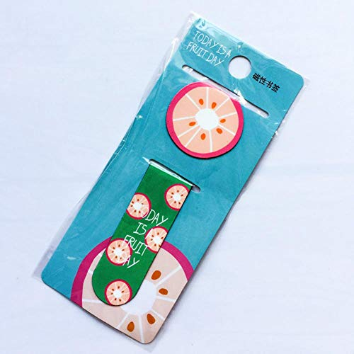 Kawaii Cute Fruit Ice Cream Magnetic Bookmarks Books Marker of Page Stationery School Office Supply Student Rewarding Prize (C)