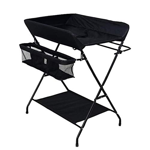 Commode Black Baby Care Station Folding Veranderen van Dresser Luiers Opslag van de Organisator Portable multifunctionele Baby-bed Baby wieg