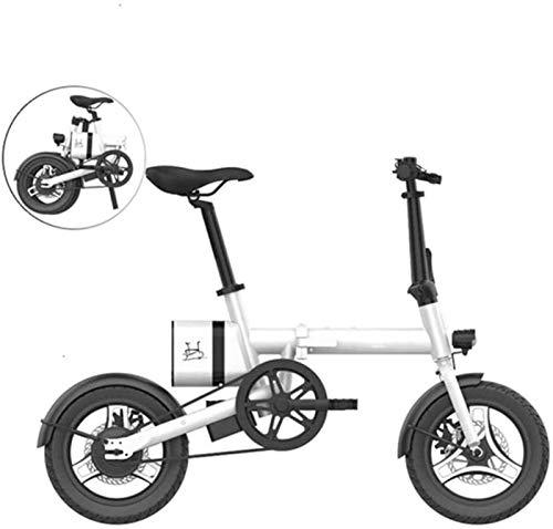 RDJM Ebike e-bike Schnelle E-Bikes for Erwachsene Elektro-Fahrrad Aluminium 16-Zoll-E-Bike for Erwachsene E-Bike mit 36V 6Ah eingebauten Lithium-Batterie 250W Brushless Motor und Dual Disc Mechanische